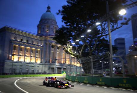 Daniel Ricciardo: recuperou posição perdida para Alonso e foi terceiro (Foto Red Bull/Getty Images)