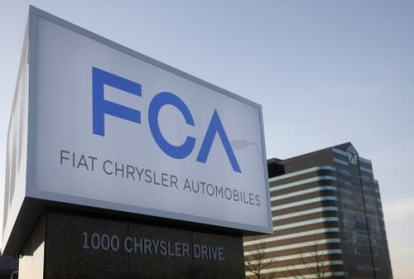 A new Fiat Chrysler Automobiles sign is pictured after being unveiled at Chrysler Group World Headquarters in Auburn Hills, Michigan  FIAT INCORPORA CHRYSLER GROUP DO BRASIL FCA1