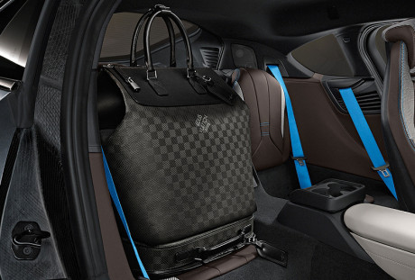 Rear seat luggage