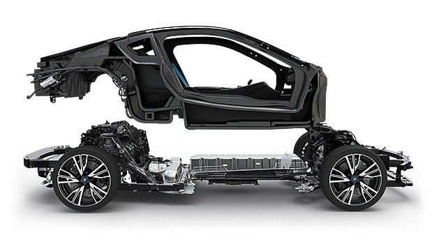 body structure  BMW i8, NO USO body structure