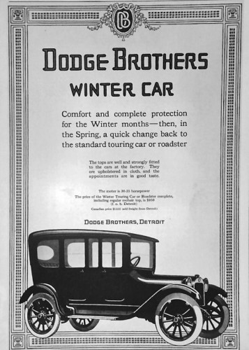 1915 Dodge Winter Car (oldcaradvertising.com)
