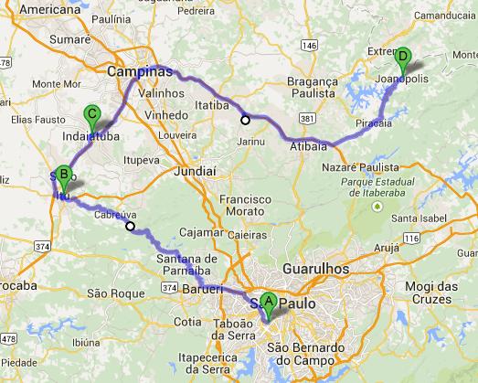 O mapa do prazer: São Paulo, Pirapora do Bom Jesus, Cabreúva, Itu, Salto, Indaiatuba, Joanópolis