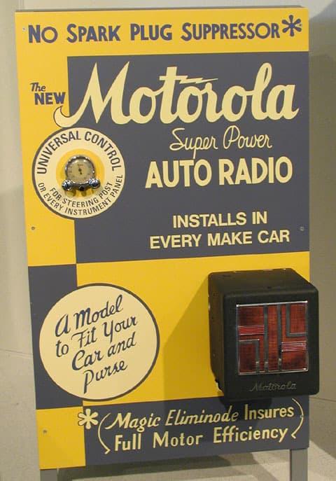 Motorola  HISTÓRIA DO RÁDIO DE AUTOMÓVEL Motorola