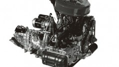 Motor e transeixo do Subaru 1000