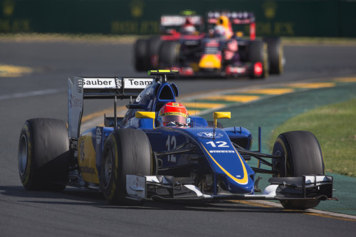 Felipe Nasr se impôs a Daniel Ricciaardo e Kimi Räikkönen (Foto Sauber Motorsport)