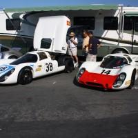 Porsches em Laguna Seca, apenas expostos