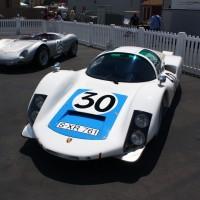Exposição de Porsches no circuito de Laguna Seca