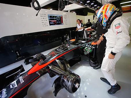 Alonso andou em sexto e parou sem freios (foto McLaren)