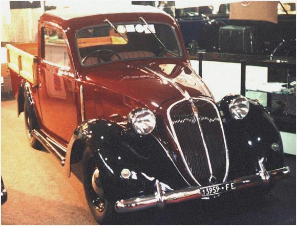 Foto Legenda 04 coluna 2115 - Fiat  1100 picape  1939..  TT, o adequado esportivo da Audi Foto Legenda 04 coluna 2115 Fiat 1100 picape 1939