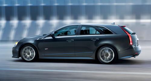 2011 Cadillac CTS-V Sport Wagon  AS DEZ MAIS EXÓTICAS PERUAS ESPORTIVAS DE TODOS OS TEMPOS 12 cadillac cts v wagon side