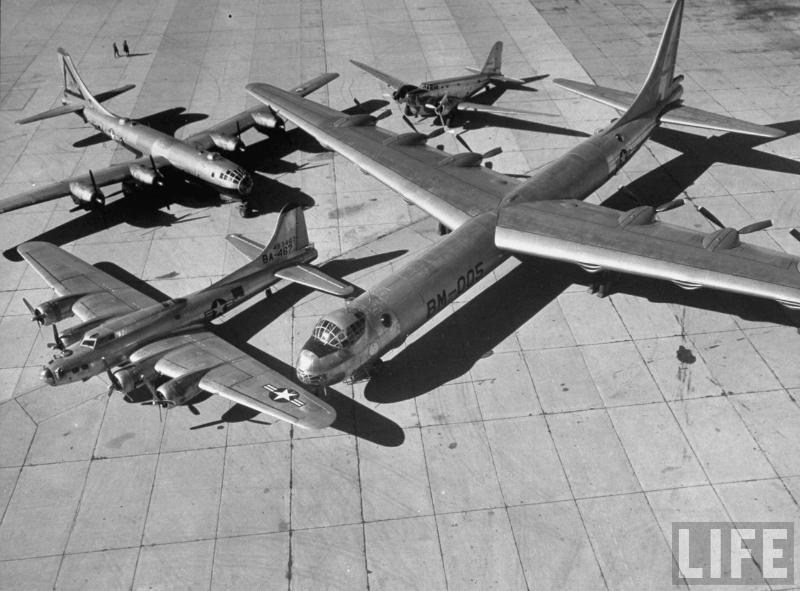 CONVAIR B-36, O ÚLTIMO BOMBARDEIRO A PISTÃO comparacao