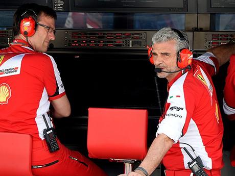 Maurizio Arrivabene já cumpriu a meta, o que vier agora é lucro (foto Ferrari)  Rapsódias húngaras (COM VÍDEO) 20150728 Arriva Ferrari