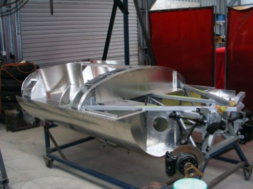 Projeto em andamento: Jaguar D-Type (foto arquivo Rod Tempero)  UM SÉRIO CASO DE AMOR DSCF1826