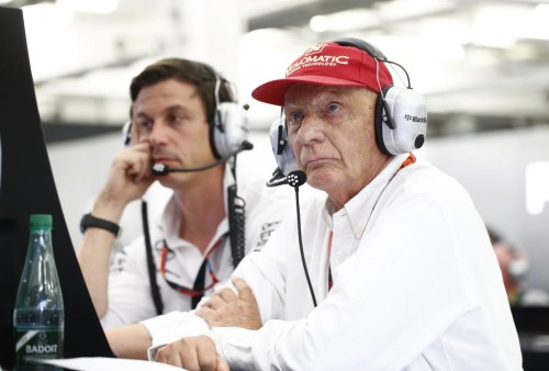Lauda acredita em milagres (foto Mercedes benz)