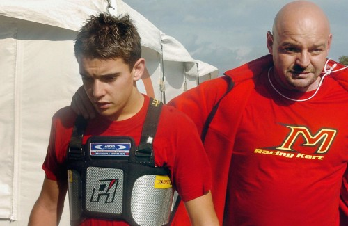 Jules e seu pai Philippe: apoio desde os tempos do kart (foto Getty Images)