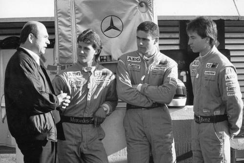 O NASCIMENTO DA EQUIPE SAUBER Peter Sauber Michael Schumacher Karl Wendlinger Heinz Harald Frentzen sauber com