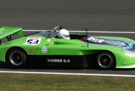 O NASCIMENTO DA EQUIPE SAUBER Sauber C5 at Silverstone Classic Endurance Car Racing in September 2009