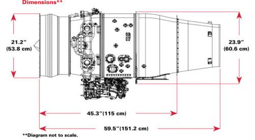HE_Honda_Aerengine_HF120_dimensions  HONDAJET, AVIÃO DE ENTUSIASTA HE Honda Aerengine HF120 dimensions