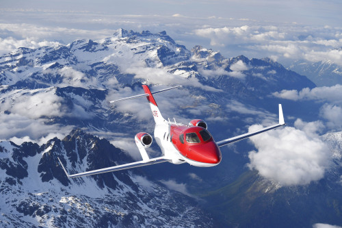 HondaJet Over Alps