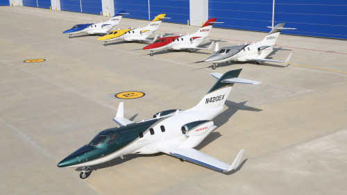 HondaJet_Fleet_with_First_Production_Aircraft