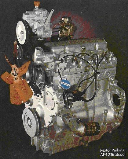 Motor Perkins prateado