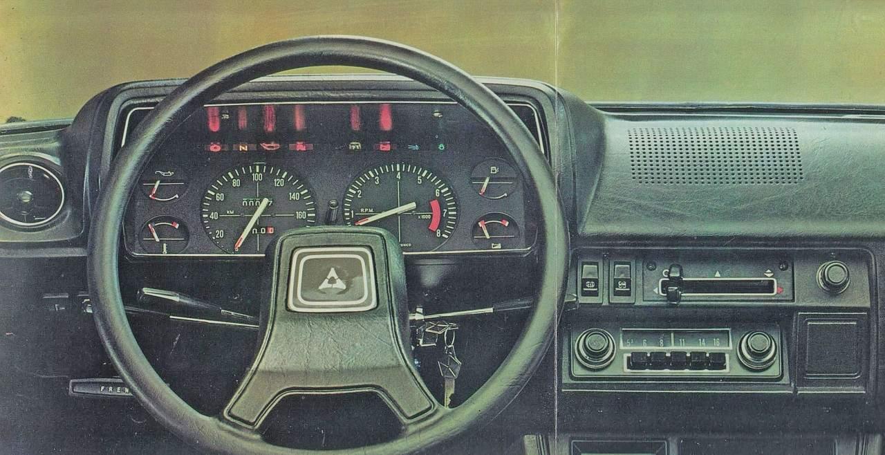 Nesta foto de um Dodge 1500 argentino, os instrumentos iguais aos do GLS brasileiro (Divulgação) dodge polara AVENGER, O NOSSO DODGINHO D37