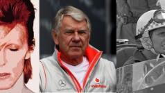 2016 já soma três perdas históricas: Bowie, Alexander e De Fiippis (fotos Divulgação/McLaren/Retroauto)
