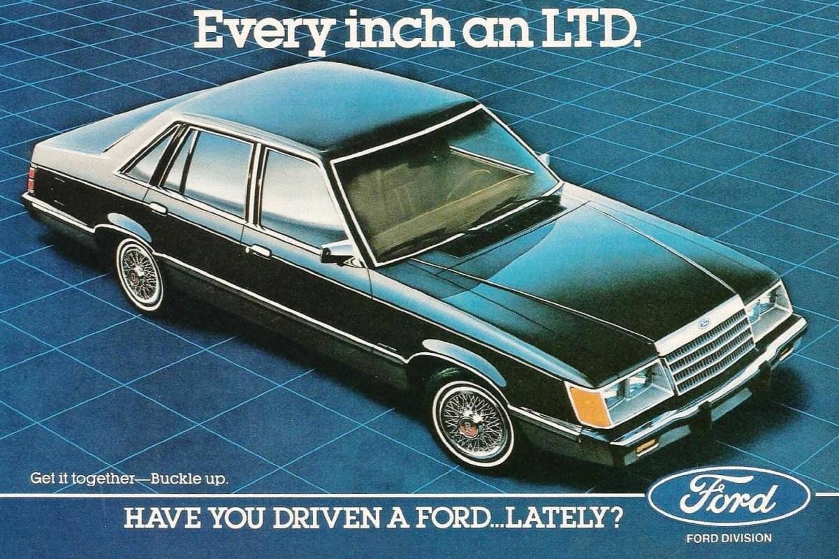 LTD 1983 EUA - propaganda original da época
