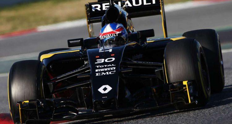 Renault andou com um carro que deverá receber nova pintura e pequenas modificações atá ao GP da Austrália (foto Renault)
