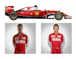 Ferrari SF16 H de Sebastian Vettel e Kimi Räikkönen (F-1.Com)