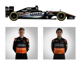 O Sahara Force India-Mercedes VJM de Nico Hulkenberg e Sérgio Pérez (F-1.Com)