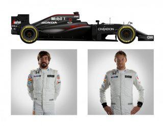 O McLaren MP4/31-Honda de Fernando Alonso e Jenson Button (F-1.Com)