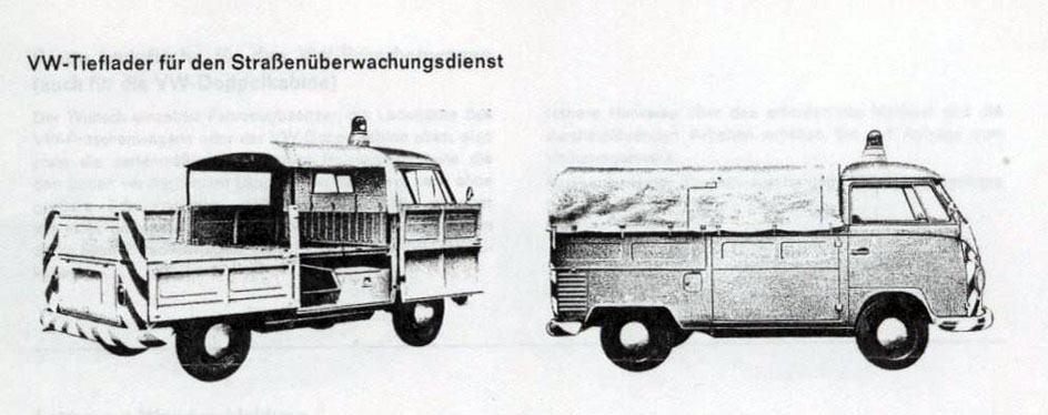 VW Tieflader para serviço público