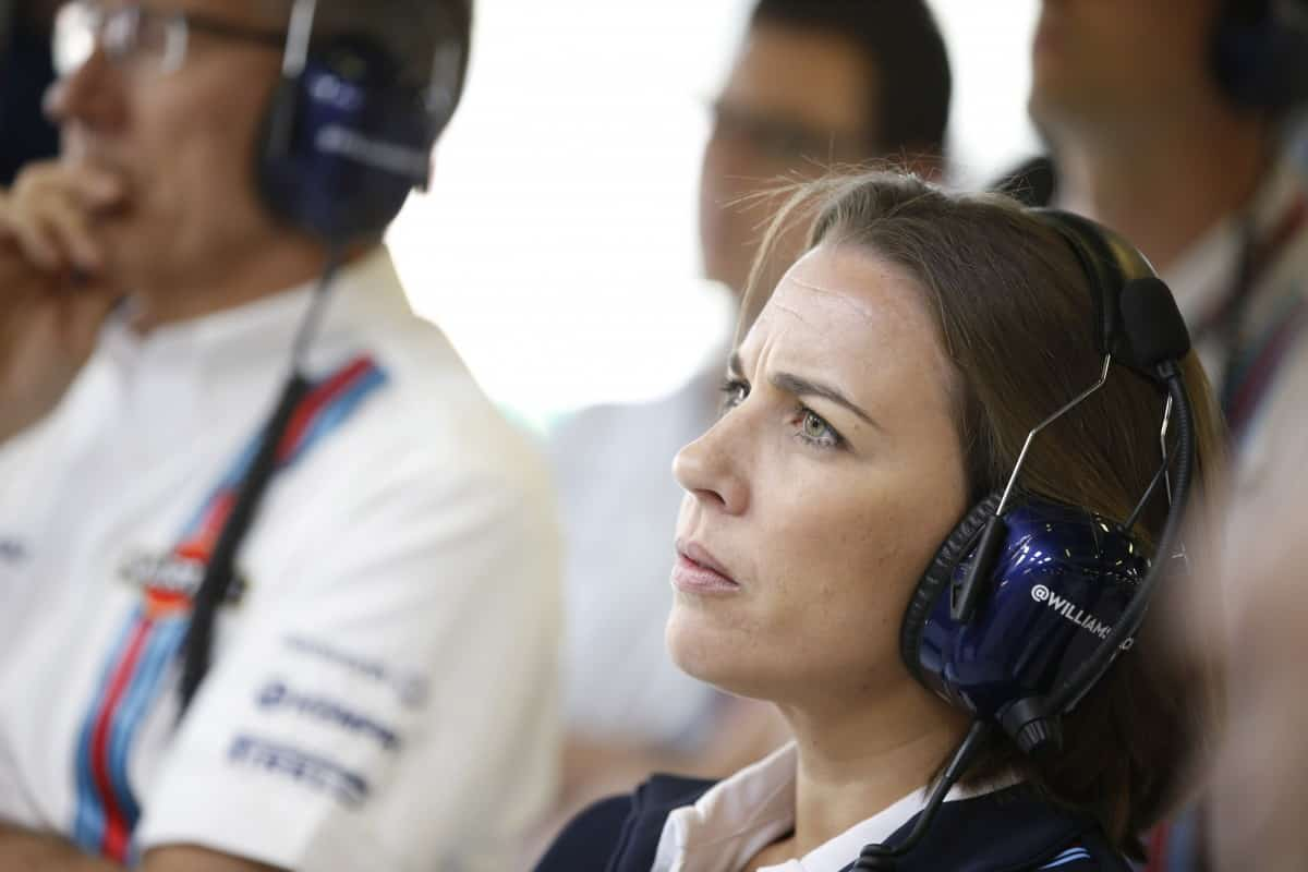 Claire Williams quer mais $$$ (foto Williams)  COMO ESTÁ FICA W2Q0258