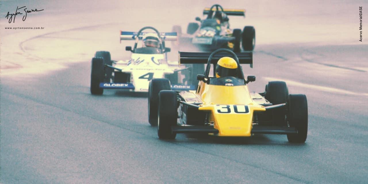 Na F-Ford 2000 Senna venceu em Snetterton sem freios traseiros (Foto IAS)