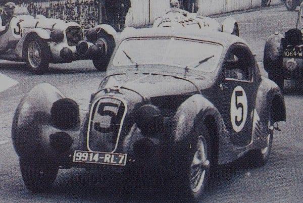 LE MANS 1950, A VITÓRIA DE UM HOMEM SÓ T150SS Coupe LM 1938 mas11 era 6 diecastlegends com
