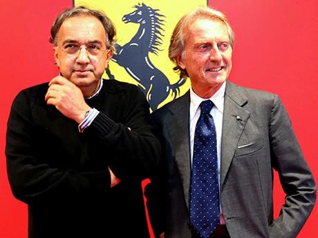 Marchionne e Montezemolo em tempos mais felizes (Foto Ferrari)  F-1 EM FÉRIAS, SÓ NA PISTA 20160809 1 Coluna Marchionne Luca Ferrari