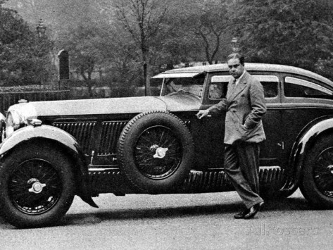 A LENDA DO BENTLEY E O TREM AZUL captain woolf barnato with his bentley
