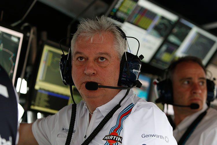 Pat Symmonds se aposenta em 2017 e está insatisfeito com o trabalho da Williams nesta temporada (Foto Glenn Dunbar)