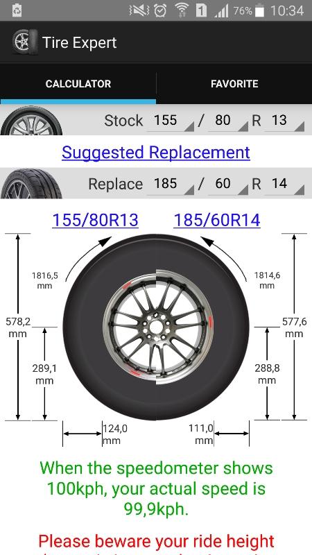(Aplicativo Tire Expert, disponível na Google Store)