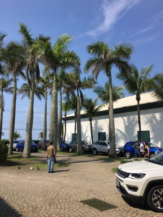 Carros alinhados para começar o Test-Drive no Guarujá - SP (foto: autor)