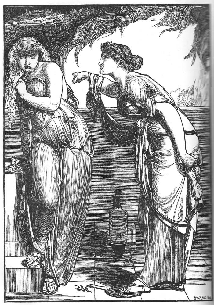 Cassandra acusa Helena pela destruição de Troia