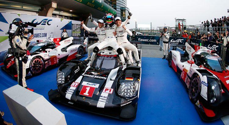 Vitória em Shnagai garantiu o Mundial de Endurance para a Porsche (Foto Porsche)