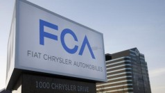 A new Fiat Chrysler Automobiles sign is pictured after being unveiled at Chrysler Group World Headquarters in Auburn Hills, Michigan