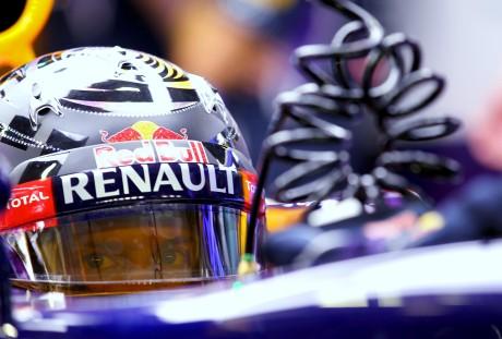 Sebastian Vettel: pela primeira vez derrota Ricciardo na pista (Foto Red Bull/Getty Images)