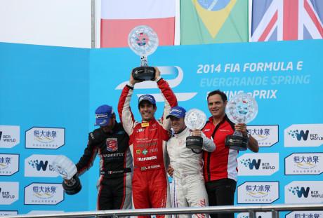 Di Grassi vencedor: o primeiro pódio da F-E (Foto FIA F-E)