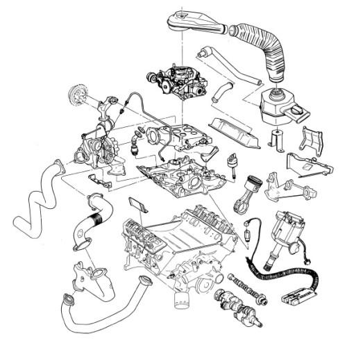 turbo componentes vista explodida 1978