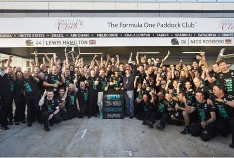 Mercedes Benz garantiu o título de Construtores por antecipação (Foto Mercedes Benz Media)