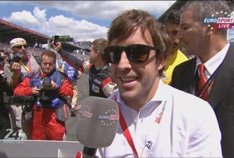 Alonso deu a largada da edição 2014 de Le Mans (Foto Fernando ALonso Fan CLub)