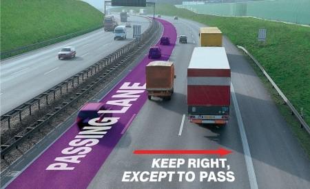 Autobahn-Passing-Lane